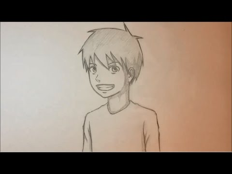 how-to-draw-anime-male-face-3/4-view-[slow-narrated-tutorial]