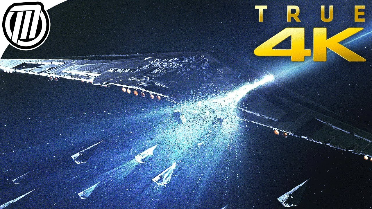 Star Wars The Last Jedi Lightspeed Scene 4k Holdo S Sacrifice Youtube