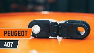 Kuinka vaihtaa etukallistuksenvakaajan puslat PEUGEOT 407 -merkkiseen autoon OHJEVIDEO   AUTODOC