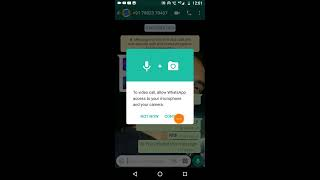 How to fix WhatsApp video calling problem,To video call, allow WhatsApp access to your microphone