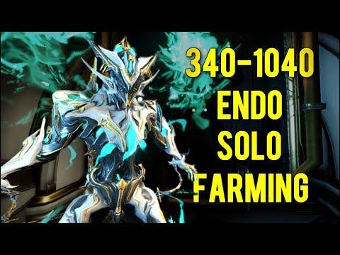Warframe: Solo Endo Farming 2018