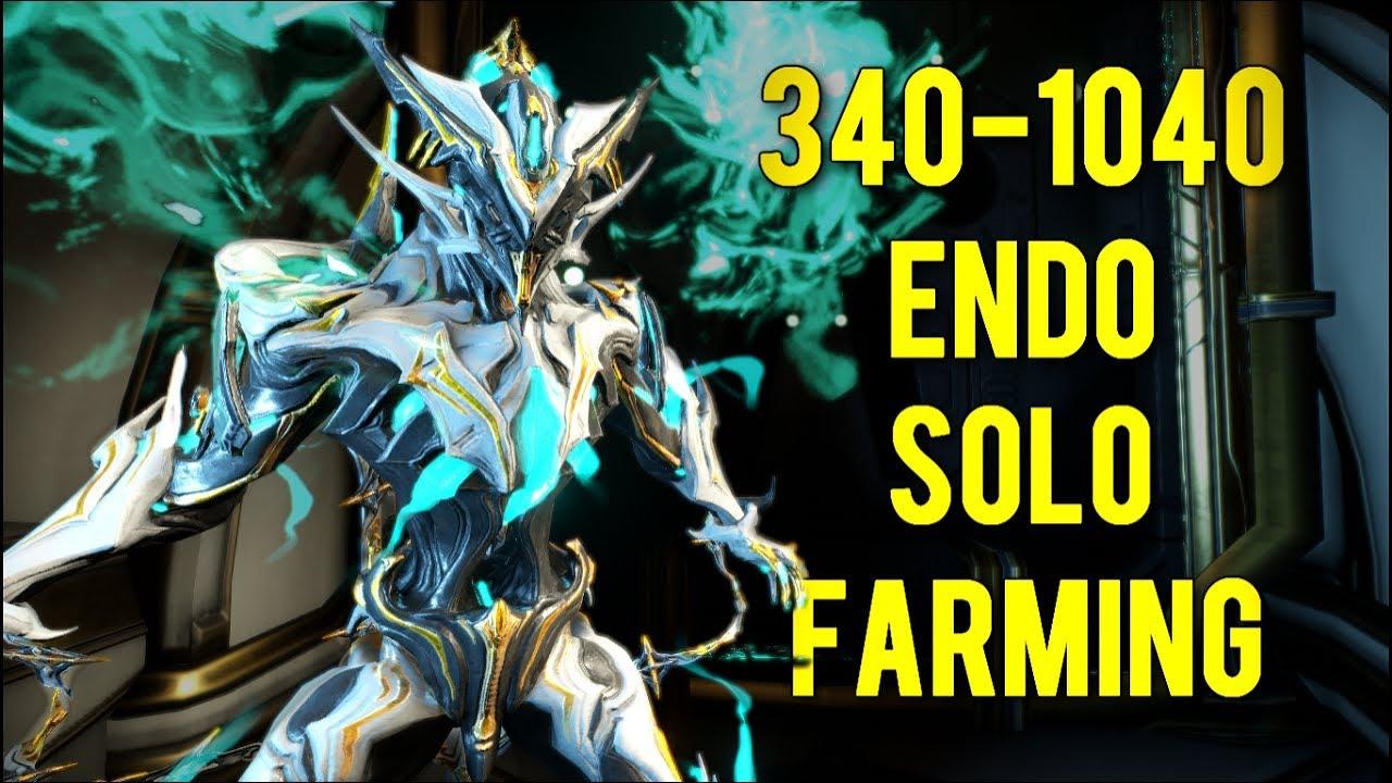 Warframe: Solo Endo Farming 2018 - YouTube