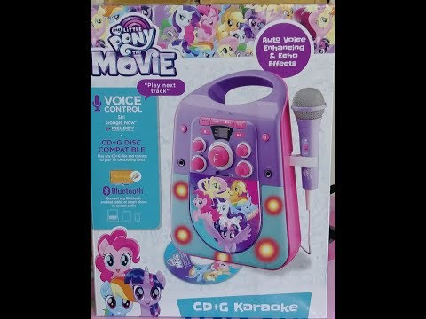 NEW!! MY LITTLE PONY MOVIE KARAOKE 2017! Unboxing!