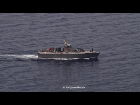 Hellenic Navy HS Toksotis P228 in Aegean Sea.