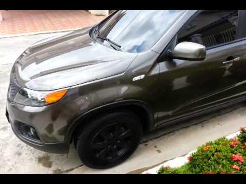 Black Kia Sorento >> 2011 Kia Sorento with black matte grill and rims - YouTube