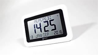 Produktvideo zu Große LCD-Funkuhr Geemarc Viso 10