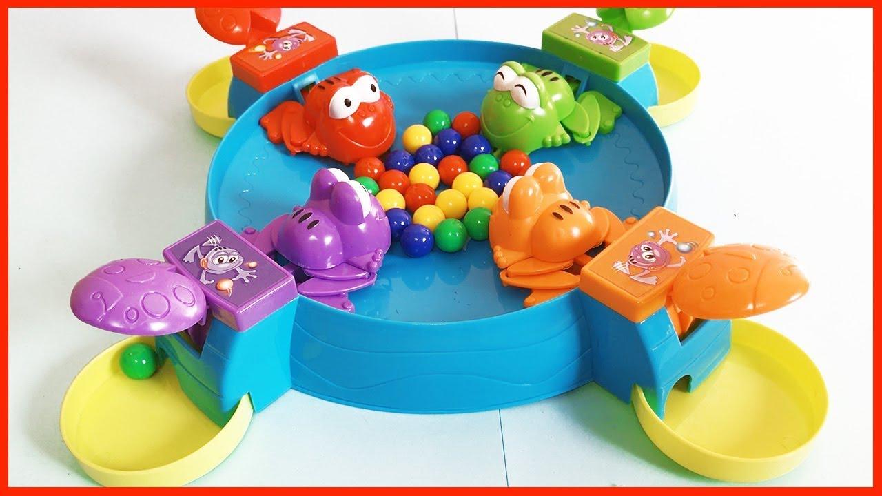 Đồ chơi trẻ em ẾCH ĂN VIÊN BI –  Trò chơi bắt ếch bằng bi vui nhộn cùng chị Chim Xinh Toys for Kids