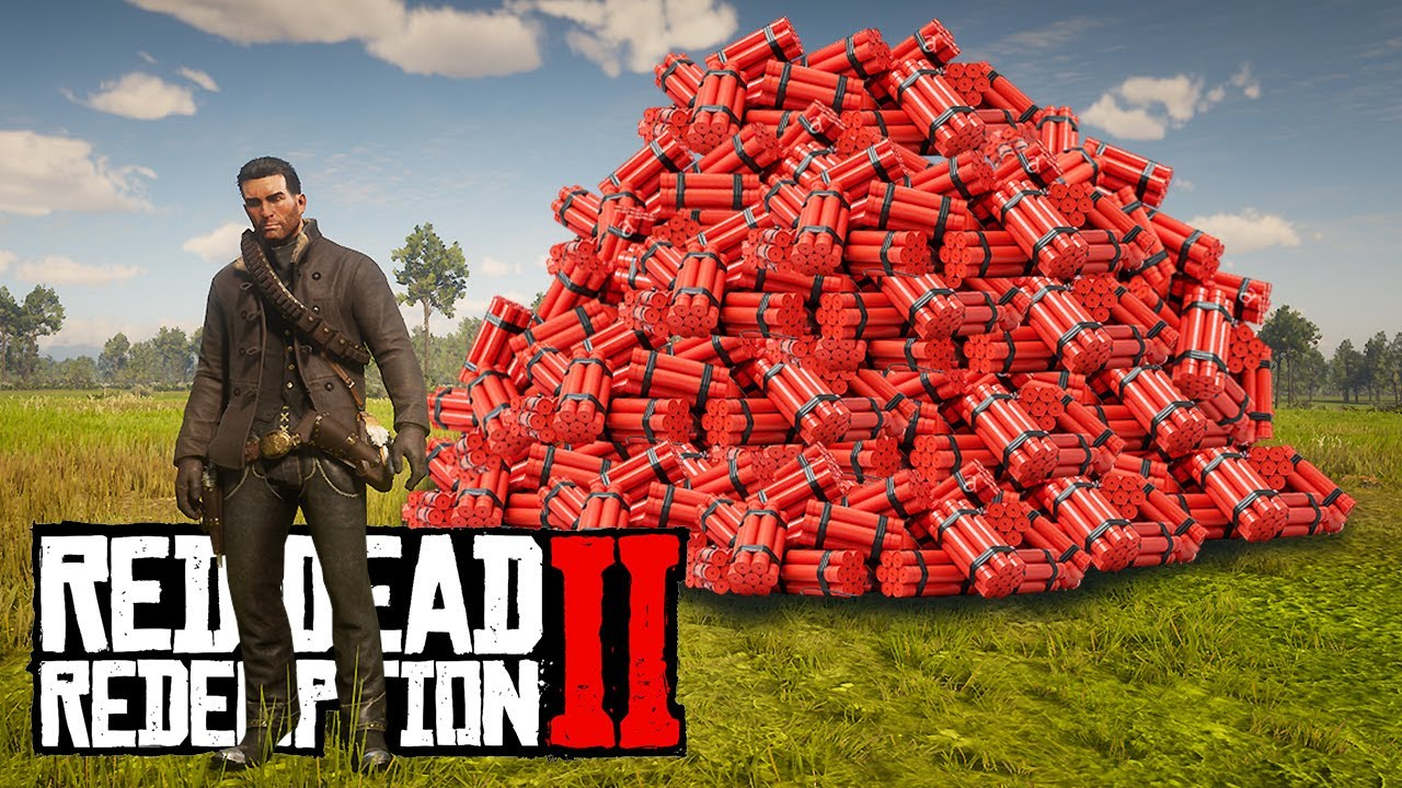 Red Dead Redemption 2 BREAKING THE GAME WITH DYNAMITE TNT! thumbnail