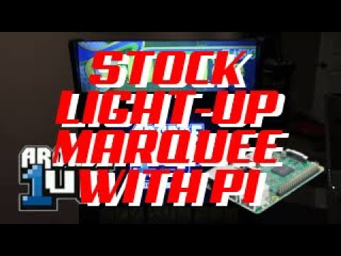 Arcade1up Stock Light-Up Marquee w/ Raspberry Pi from Holly