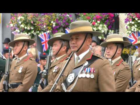Uncut Version of the Gurkhas Freedom Parade Brecon 2017
