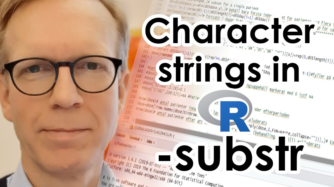 Character strings in R - substr