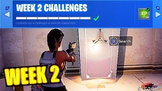 Fortnite: All Week 2 Challenges -(How To Do) - Fortnite Saison 5 Semaine 2 Défis Fuite