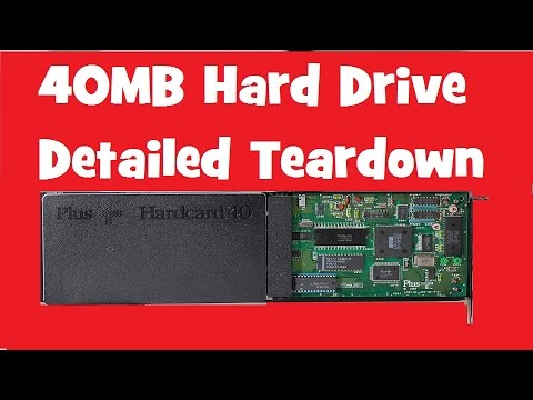 Made in 1987- A Detailed Tear Down of a 40MB Hardrive
