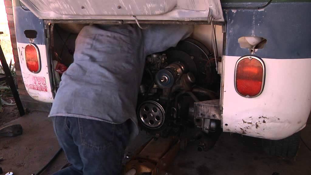 Remove Engine VW Bus