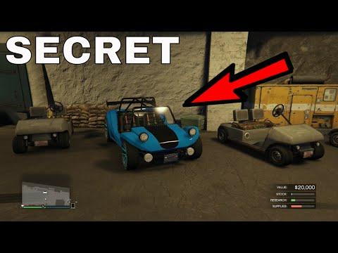 GTA V: SECRET BUNKER GOLF CART - GUN RUNNING DLC