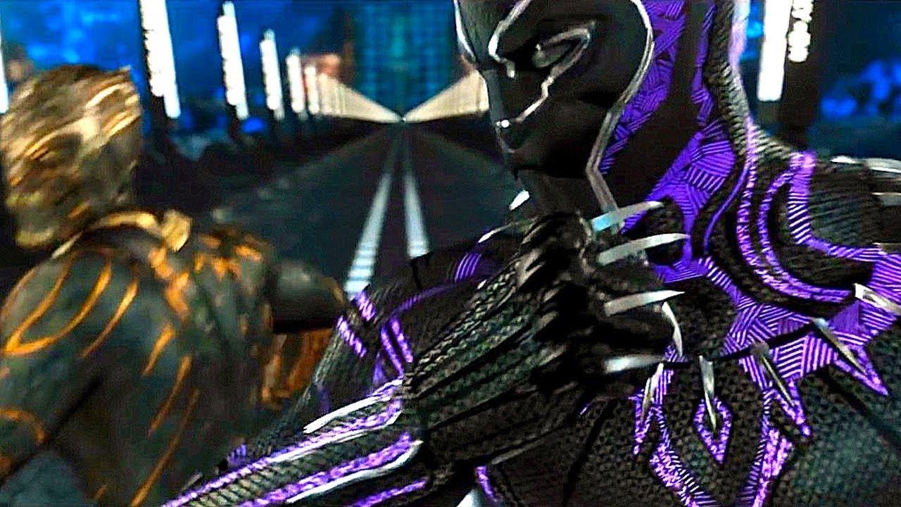 Black Panther vs Killmonger - Fight Scene - Black Panther ... - photo#13