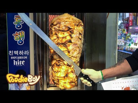 Kebab / Korean Street Food / Kkangtong Night Market, Busan Korea
