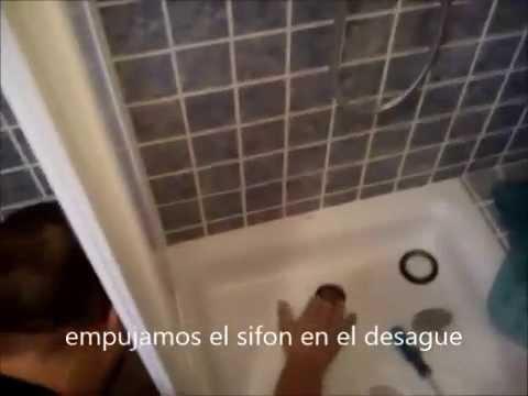 Como cambiar el sifon roto del plato de ducha youtube for Desague banera