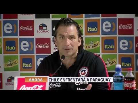 Conferencia Pizzi antes del duelo Paraguay -Chile