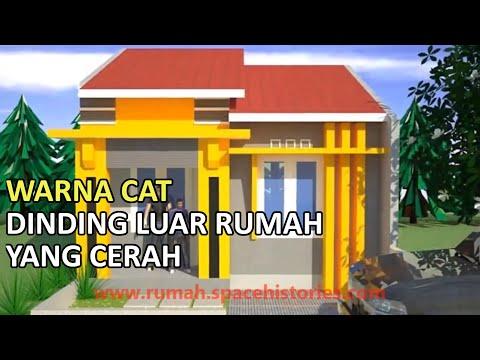 Warna Cat Dinding Luar Rumah Yang Cerah Youtube