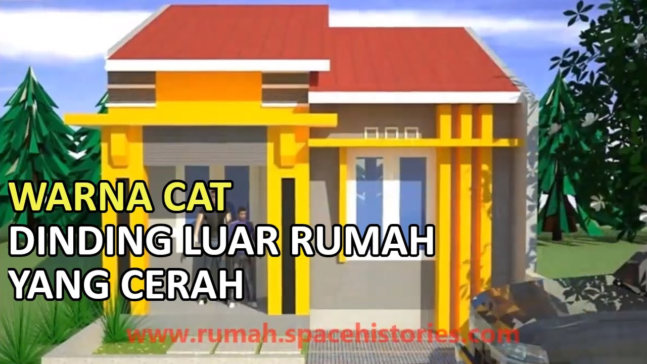 Cari Warna Cat Rumah The Paint Color Of The Outer Walls Of The House Is Bright