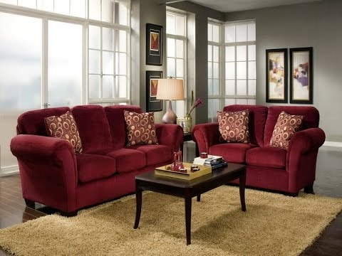 Home Decor Ideas Red Couch - YouTube