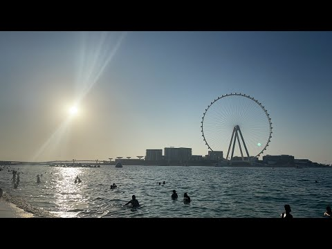 """iLive:Dubai – """"пустой"""" пляж Дубаи Марина в эпоху """"пандемии"""", декабрь 2020"""