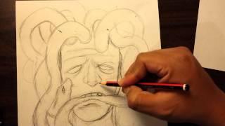 How to draw Medusa