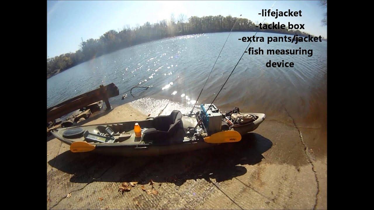 Ascend fs12t kayak my fishing setup youtube for Ice fishing setup