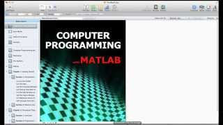 Lesson 1.2 The MATLAB Environment