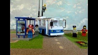 Мультики для детей Городской транспорт #Троллейбус . Trolleybus for kids