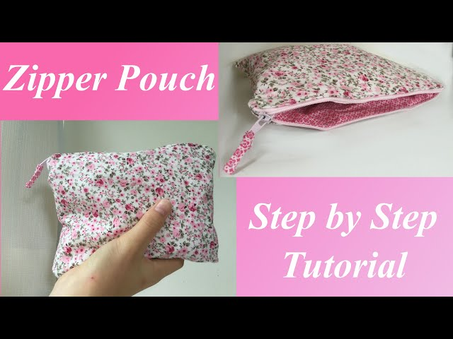How to Sew a DIY Zipper Pouch for Beginners | Back to School Essentials