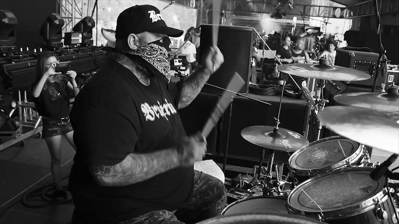 BRUJERIA@Satongo-Nicholas Barker-Live at Brutal Assault 2018 (Drum Cam)