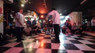 カズ vs Cedar BREAK SPOT 17/4/10 DANCE BATTLE