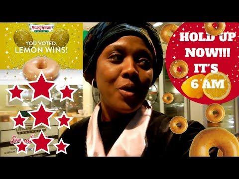 WATCH OUT NOW!! Krispy Kreme New Lemon Glaze Doughnuts Got Me Out In My ROBE!!