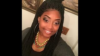ways to style your outre xpression box braid large lace front