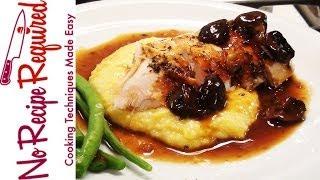 Roast Chicken With Polenta And Mushrooms - Noreciperequired.com