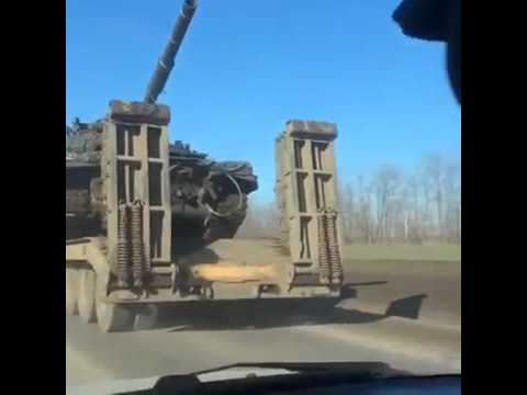 Доставка Т-72Б к границе. Матвеев Курган.