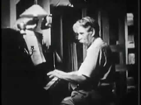 Albert Schweitzer: practising Bach in Lambarene original footage