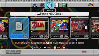 S/NESC dual-boot demonstration | Original 21 NES games and 30 SNES games on one console
