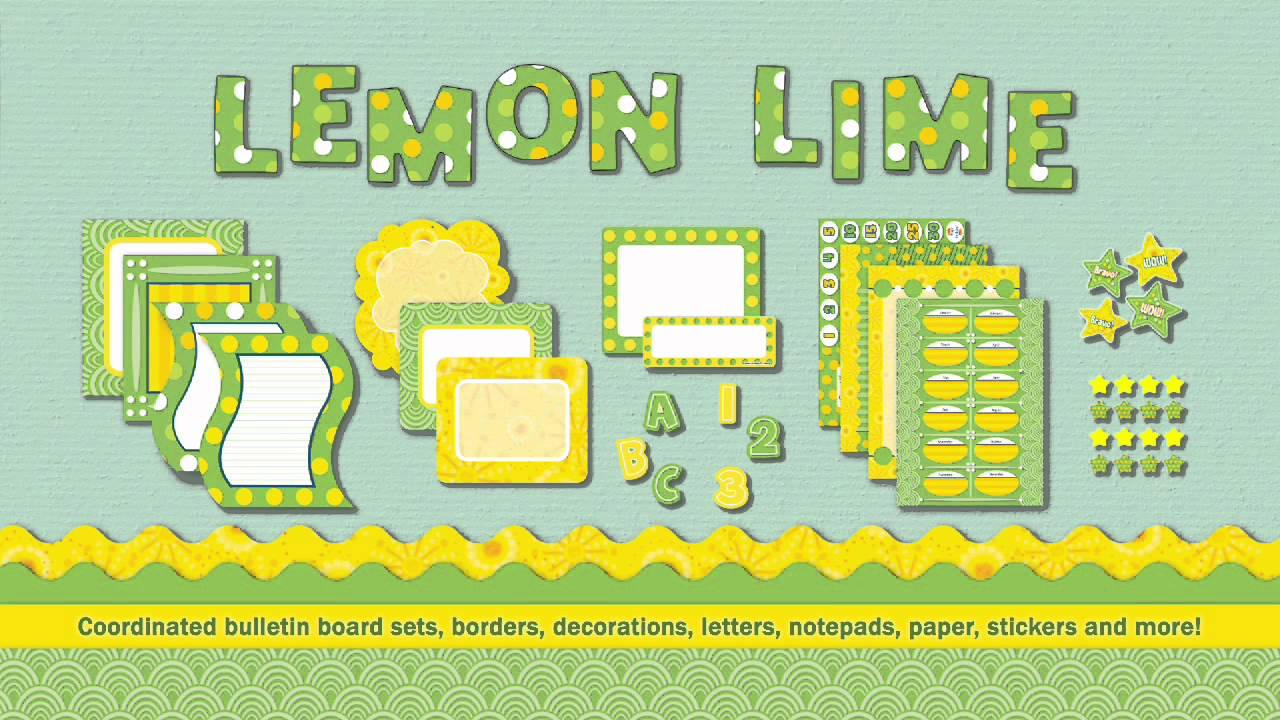 More Than Décor Lemon Lime Clroom Collection From Carson Dellosa
