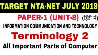 Computer Terminology 2 (शब्दावली) Important for NTA-NET,SET,CTET,OTHER EXAMS.