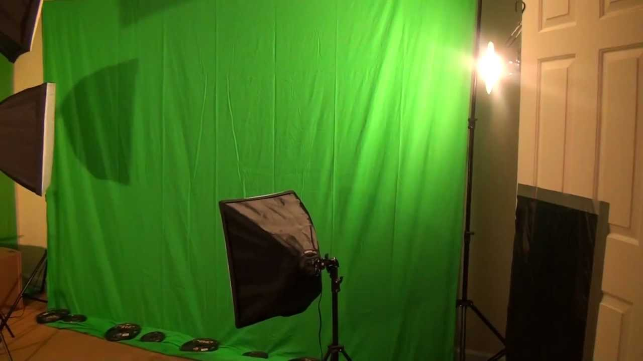 Ephoto Chromakey Green Screen And Lighting Kit Unboxing
