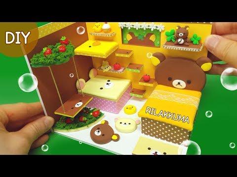 DIY Miniature Dollhouse -  Rilakkuma Room Decor !!