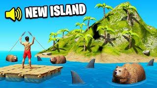 STRANDED on a DESERTED ISLAND (Raft)