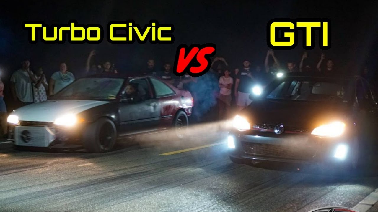 Street Racing Action!   Turbo Hondas, GTI, Evo, Foxbody, WRX & More! Roll & Dig Racing