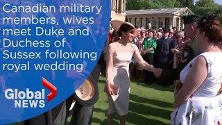 Canadians react to meeting Prince Harry, Meghan Markle at garden party