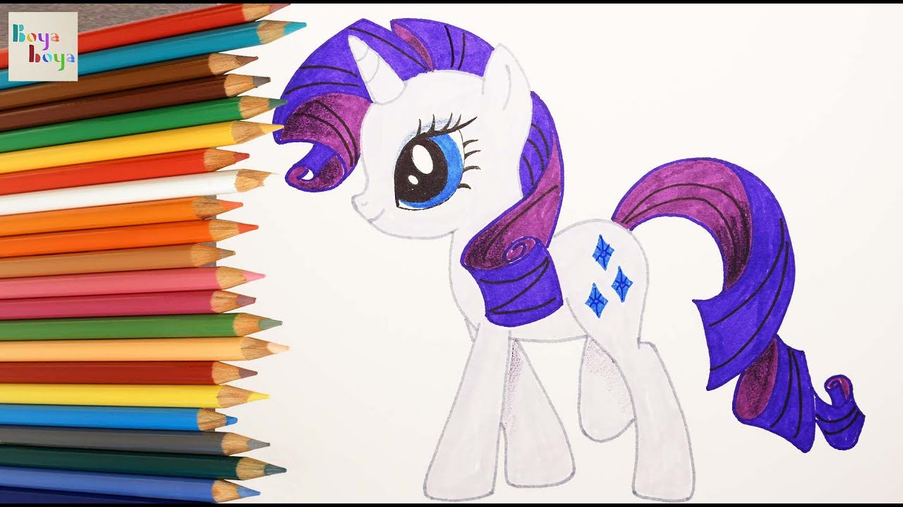 my pony mlp rarity picture drawing coloring how