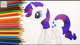 My Little Pony - MLP Rarity Picture Drawing Coloring | How to Draw and Color Kids TV