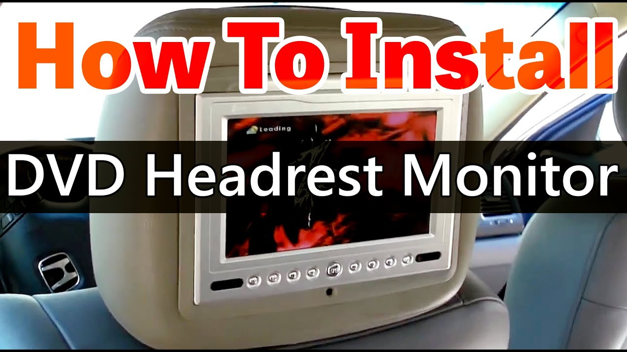 dvd headrest monitor installation video hd www qualitymobilevideo rh youtube com Car Headrest Covers Soundstream Headrest